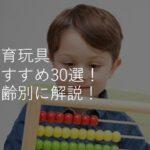 知育玩具おすすめ人気ランキング30選!ブロック・パズル・3歳4歳5歳6歳別に選び方のコツも解説!