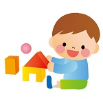 知育玩具で遊ぶ幼児