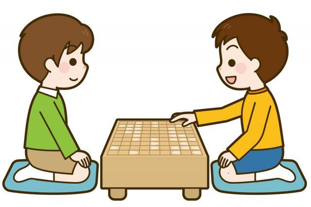 親子で将棋をする