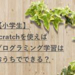 【小学生】scratchを使えばプログラミング学習はおうちでできる?