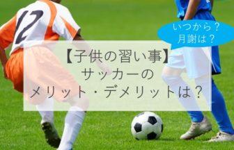 子どもの習い事サッカーのメリット・デメリットは?いつから?月謝は?