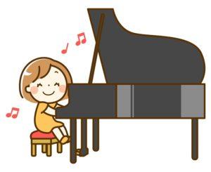 子供のピアノの練習風景