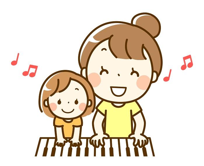 ピアノは親子でできる
