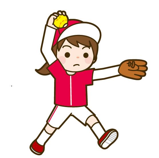 ソフトボールのウインドミル投法