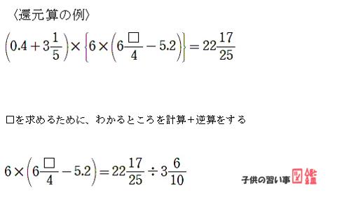 中学受験算数:還元算の例