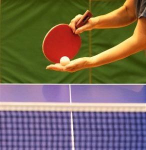 ペンホルダーの卓球ラケット