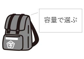 中学生・高校生の通学リュック・カバンの選び方(容量)