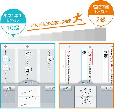 スマイルゼミの漢字検定の対応