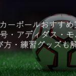 サッカーボールおすすめ人気17選!4号5号・アディダス・モルテン・選び方・練習グッズも解説!
