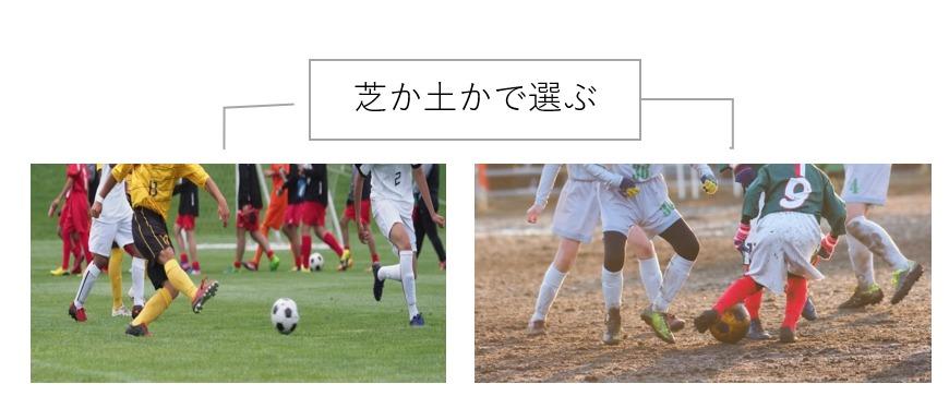 サッカーボールは芝か土かで選ぶ