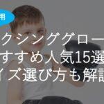 【子供用】ボクシンググローブおすすめ人気15選!初心者・オンスサイズ・選び方も解説!