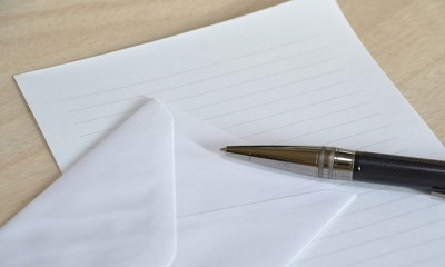 手紙を書く事で習字に興味を持たせる