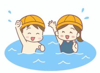 水泳を教えるときは浅いプールから慣れていく