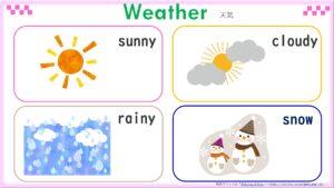 季節(春・夏・秋・冬)の無料英語プリント一覧表