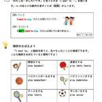 【英語学習プリント】want(動詞)を使う練習ドリル   無料ダウンロード・印刷