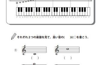 楽譜の音域の学習プリント