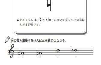 臨時記号の学習プリント | 無料ダウンロード・印刷 小中学生音楽教材