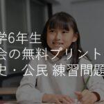 小学6年生「社会」プリント(練習問題) 歴史・公民 ・政治 | 無料ダウンロード・印刷
