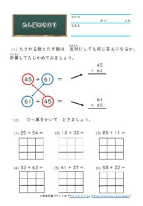 小2算数学習プリントたし算