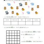 小2算数「ひょうとグラフ」学習プリント   無料ダウンロード印刷