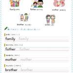 【英単語学習プリント】人物と家族編|無料ダウンロード・印刷 小学生英語