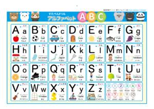 【アルファベット表(おしゃれ・かわいい)】英語無料学習プリント