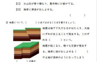 小6理科「土地のつくりと変化」の学習プリント | 無料ダウンロード・印刷