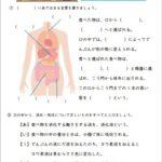 小6理科「人の体のつくりと働き」の学習プリント   無料ダウンロード・印刷