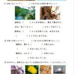 小6理科「生物と環境」の学習プリント   無料ダウンロード・印刷