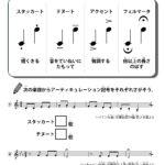 アーティキュレーション記号の音楽学習プリント | 無料ダウンロード印刷