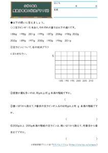 小6データの調べ方(度数分布表と柱状グラフ)(4)の学習プリント(練習問題・テスト)