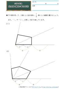 小6拡大図と縮図(拡大図と縮図の書き方)(4)の学習プリント(練習問題・テスト)