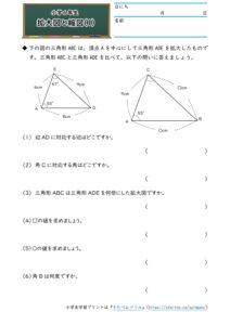 小6拡大図と縮図の学習プリント・練習問題