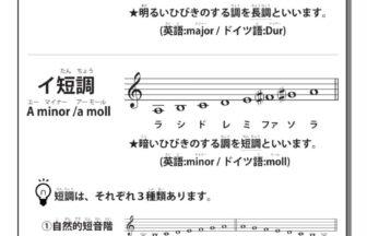 9-1音階と調性(ハ長調・イ短調)